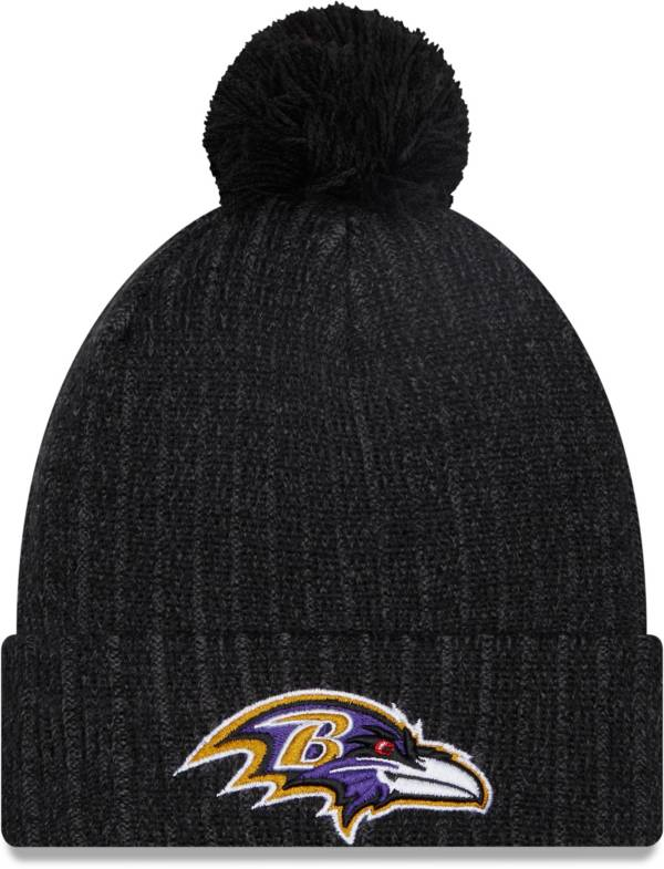 New Era Men's Baltimore Ravens Black Breeze Knit Pom Beanie product image
