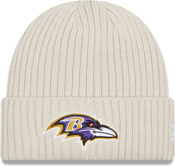 New Era Men's Baltimore Ravens Core Cuffed Knit White Beanie product image