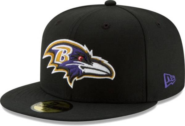 New Era Men's Baltimore Ravens Black 59Fifity Logo Fitted Hat product image