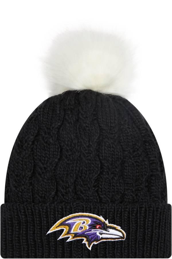 New Era Women's Baltimore Ravens Black Flurry Knit Pom Beanie product image