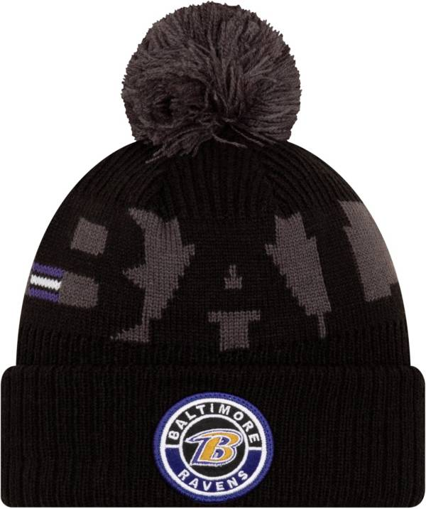 New Era Men's Baltimore Ravens Sideline Sport Black Knit Hat product image