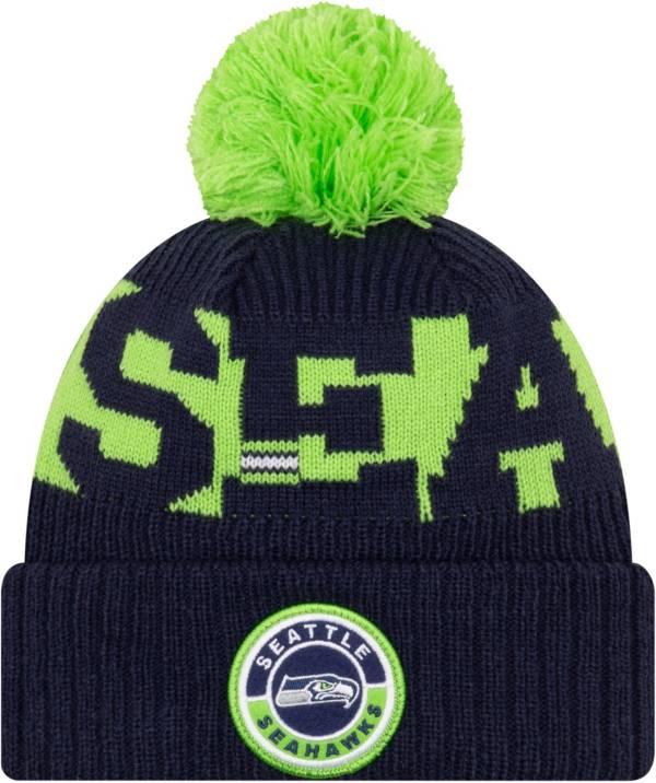 New Era Men's Seattle Seahawks Sideline Sport Blue Knit Hat product image