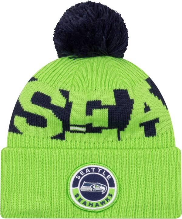 New Era Men's Seattle Seahawks Sideline Sport Green Knit Hat product image