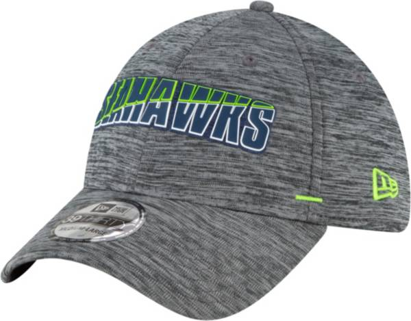 New Era Men's Seattle Seahawks Grey Summer Sideline 39Thirty Stretch Fit Hat product image