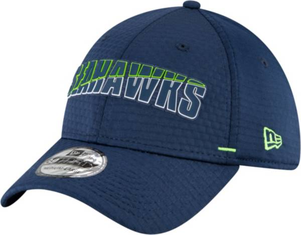 New Era Men's Seattle Seahawks Navy Summer Sideline 39Thirty Stretch Fit Hat product image