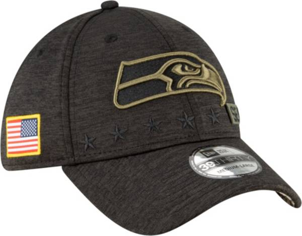 New Era Men's Salute to Service Seattle Seahawks 39Thirty Stretch Fit Black Hat product image