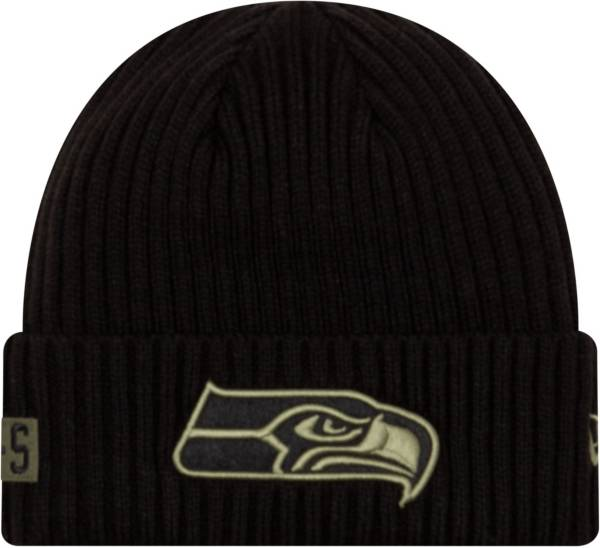 New Era Men's Salute to Service Seattle Seahawks Black Knit Hat product image