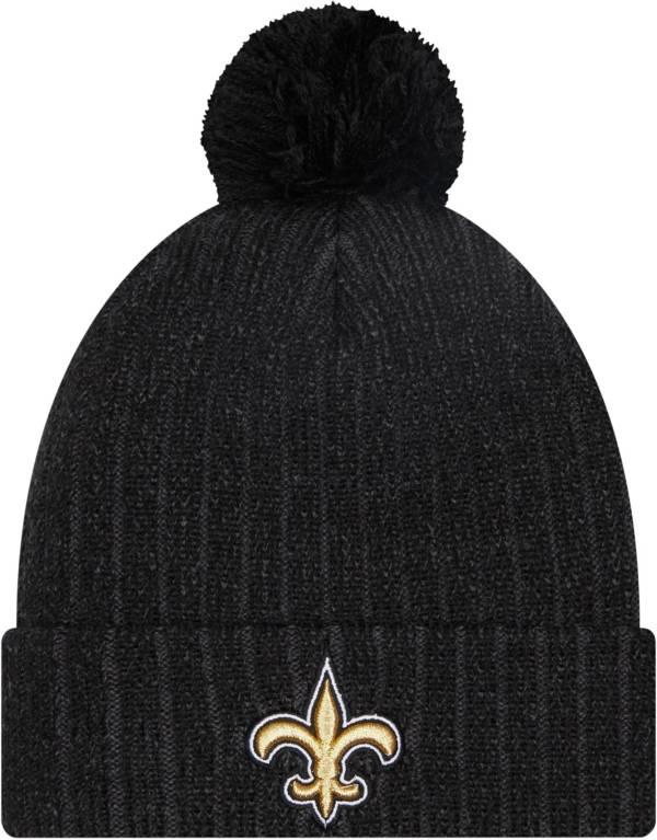 New Era Men's New Orleans Saints Black Breeze Knit Pom Beanie product image