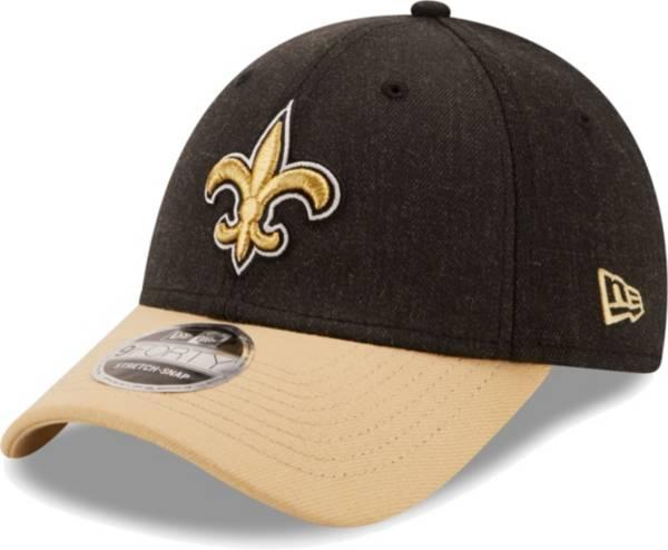 New Era Men's New Orleans Saints Black League 9Forty Adjustable Hat product image