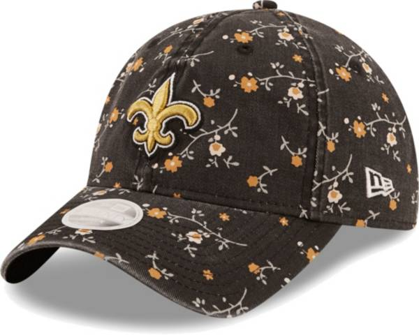 New Era Women's New Orleans Saints Black Blossom Adjustable Hat product image