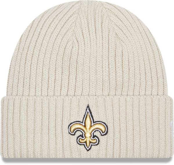New Era Men's New Orleans Saints Core Cuffed Knit White Beanie product image