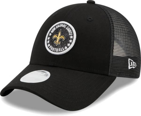 New Era Women's New Orleans Saints Black Sparkle Adjustable Trucker Hat product image