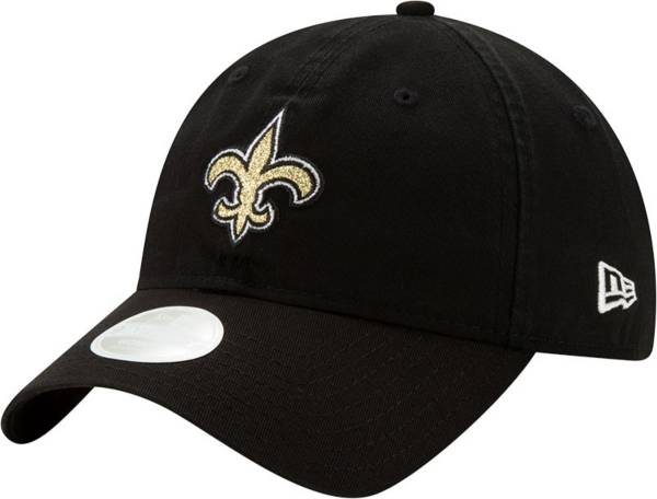New Era Women's New Orleans Saints Black Glisten 9Twenty Adjustable Hat product image