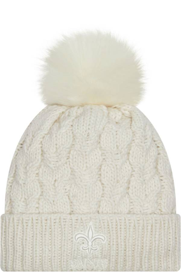New Era Women's New Orleans Saints White Flurry Knit Pom Beanie product image