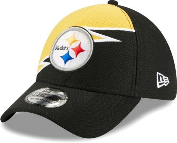 New Era Men's Pittsburgh Steelers Black 39Thirty Bolt Fitted Hat product image
