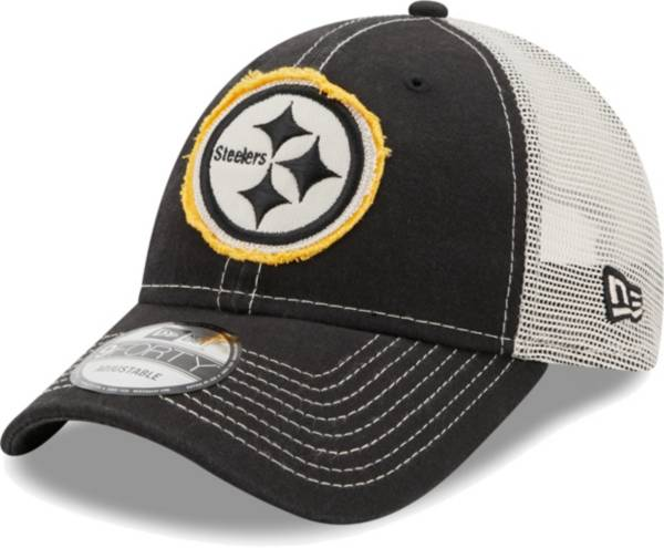 New Era Men's Pittsburgh Steelers Black 9Forty Rugged Adjustable Hat product image