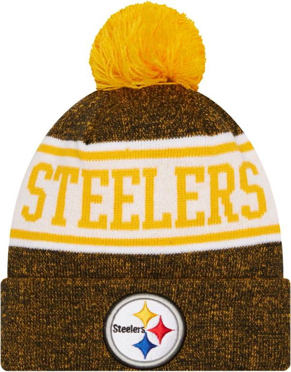 New Era Youth Pittsburgh Steelers Black Banner Knit Pom Beanie product image