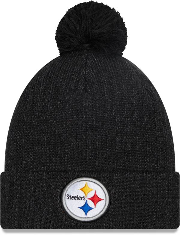 New Era Men's Pittsburgh Steelers Black Breeze Knit Pom Beanie product image