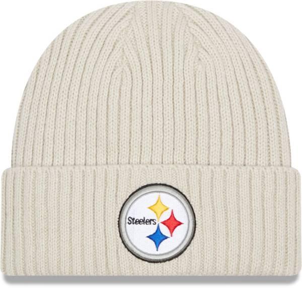 New Era Men's Pittsburgh Steelers Core Cuffed Knit White Beanie product image