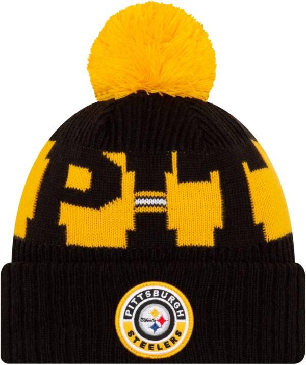 New Era Men's Pittsburgh Steelers Sideline Sport Black Knit Hat product image