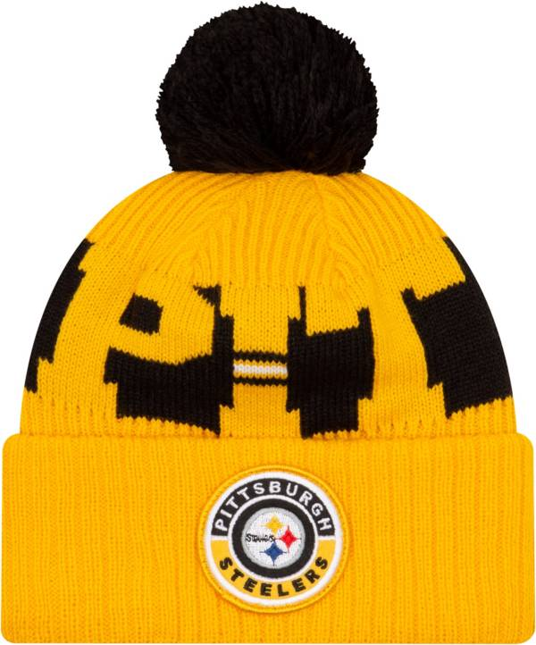 New Era Men's Pittsburgh Steelers Sideline Sport Gold Knit Hat product image