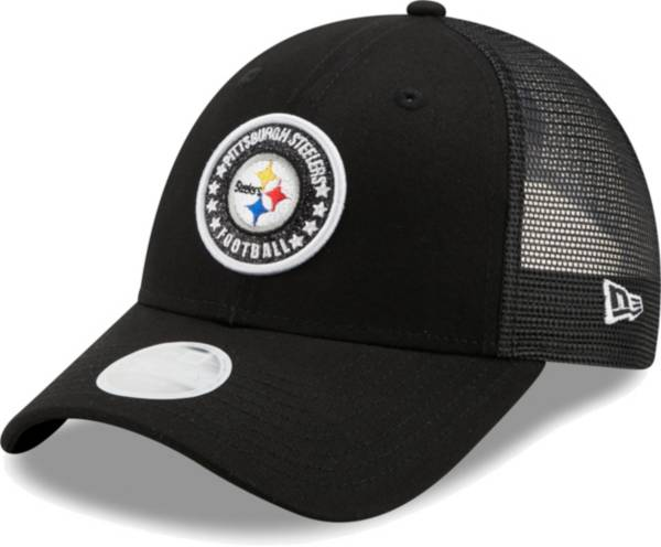 New Era Women's Pittsburgh Steelers Black Sparkle Adjustable Trucker Hat product image