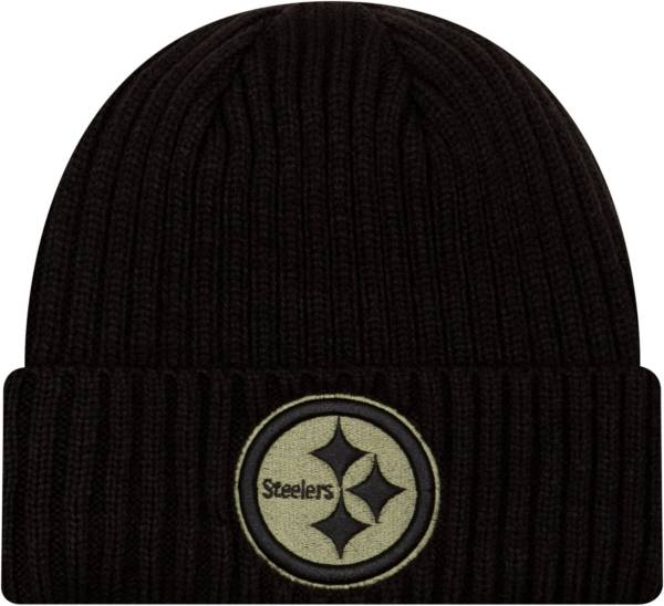 New Era Men's Salute to Service Pittsburgh Steelers Black Knit Hat product image