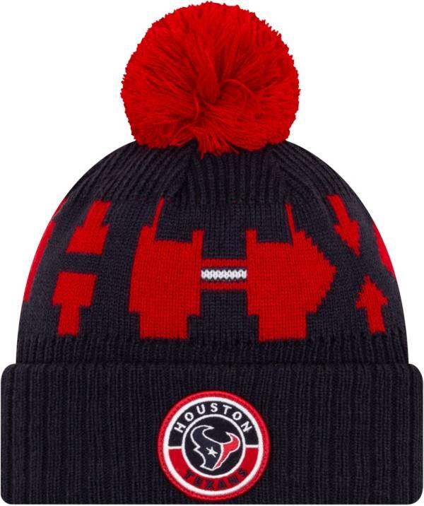 New Era Men's Houston Texans Sideline Sport Navy Knit Hat product image