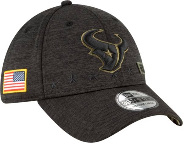 New Era Men's Salute to Service Houston Texans 39Thirty Stretch Fit Black Hat product image
