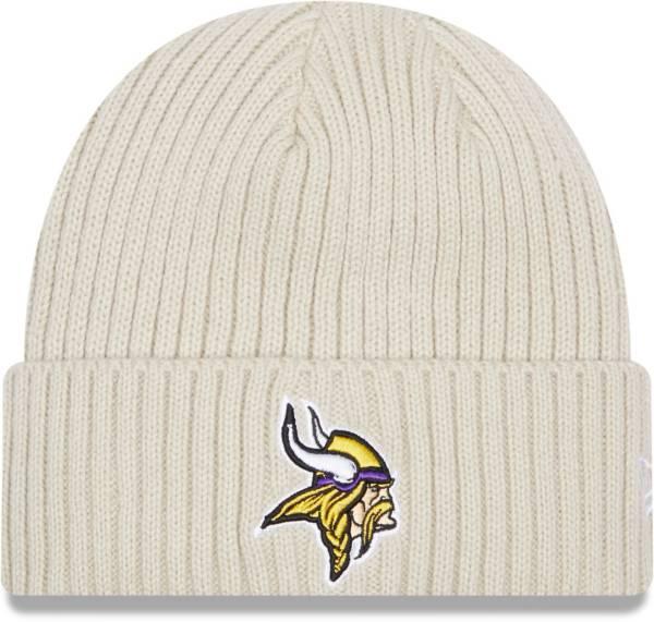 New Era Men's Minnesota Vikings Core Cuffed Knit White Beanie product image