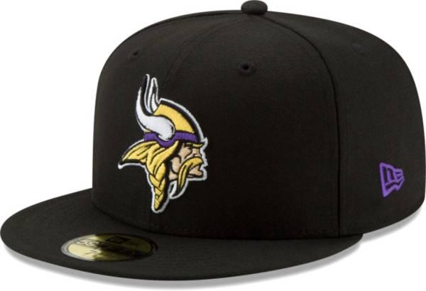 New Era Men's Minnesota Vikings Black 59Fifity Logo Fitted Hat product image
