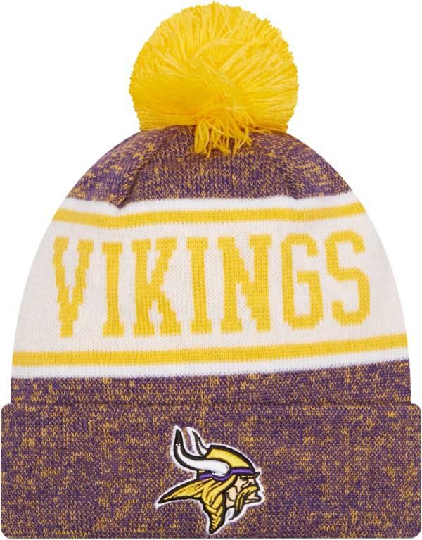 New Era Youth Minnesota Vikings Purple Banner Knit Pom Beanie product image