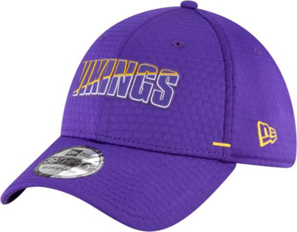 New Era Men's Minnesota Vikings Purple Summer Sideline 39Thirty Stretch Fit Hat product image