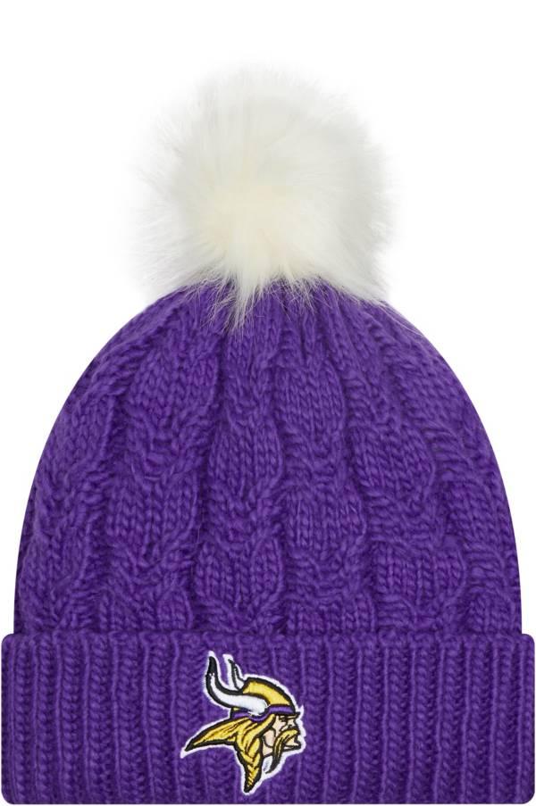 New Era Women's Minnesota Vikings Purple Flurry Knit Pom Beanie product image