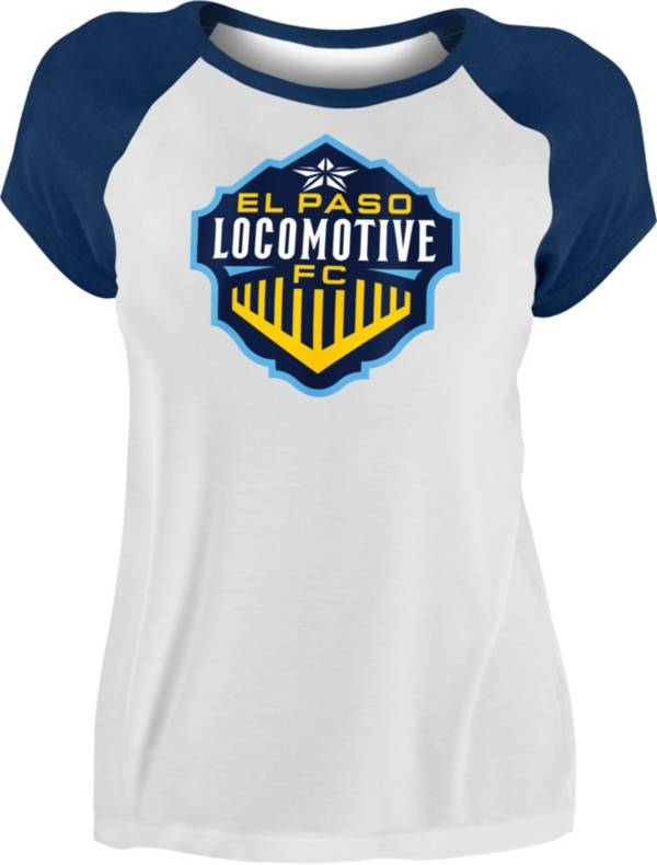 New Era Women's El Paso Locomotive FC Raglan White T-Shirt product image