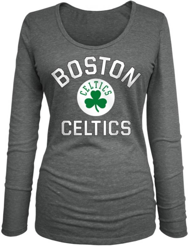 New Era Women's Boston Celtics Grey Logo Long Sleeve T-Shirt product image