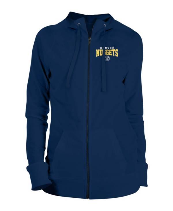 New Era Women's Denver Nuggets Navy Full-Zip Hoodie product image