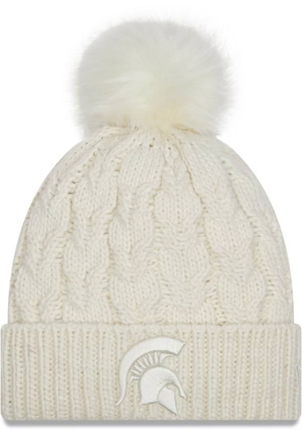 New Era Women's Michigan State Spartans Flurry Knit Pom White Beanie product image