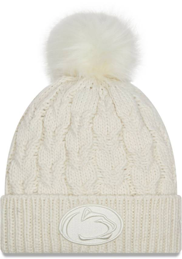 New Era Women's Penn State Nittany Lions Flurry Knit Pom White Beanie product image