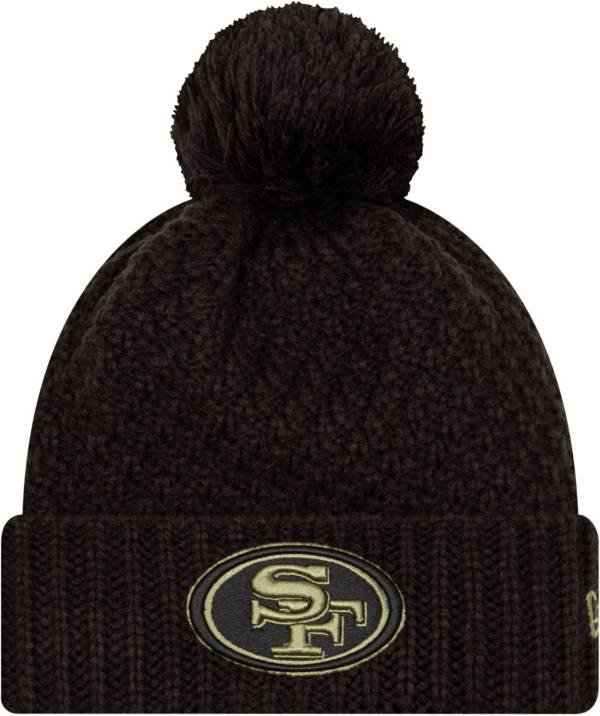 New Era Women's Salute to Service San Francisco 49ers Black Pom Knit Hat product image
