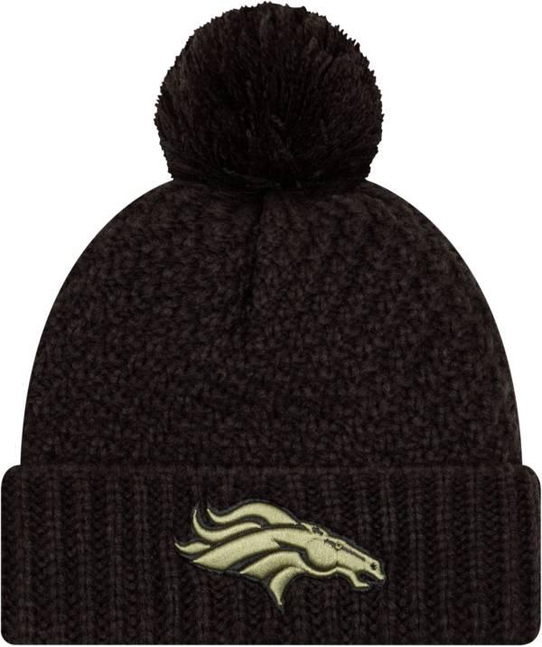 New Era Women's Salute to Service Denver Broncos Black Pom Knit Hat product image
