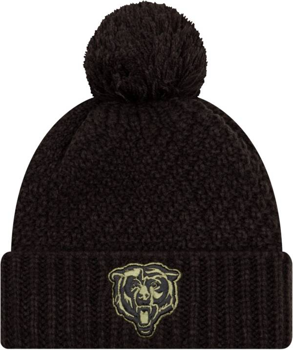 New Era Women's Salute to Service Chicago Bears Black Pom Knit Hat product image