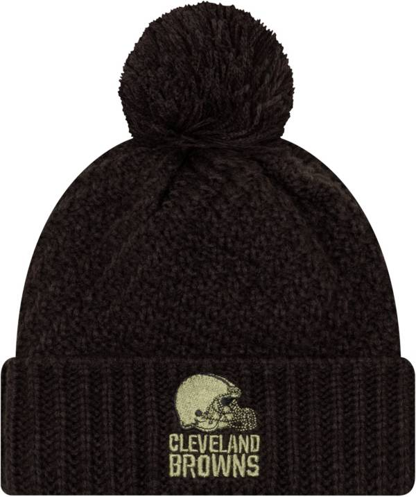 New Era Women's Salute to Service Cleveland Browns Black Pom Knit Hat product image