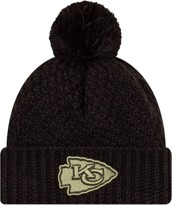 New Era Women's Salute to Service Kansas City Chiefs Black Pom Knit Hat product image