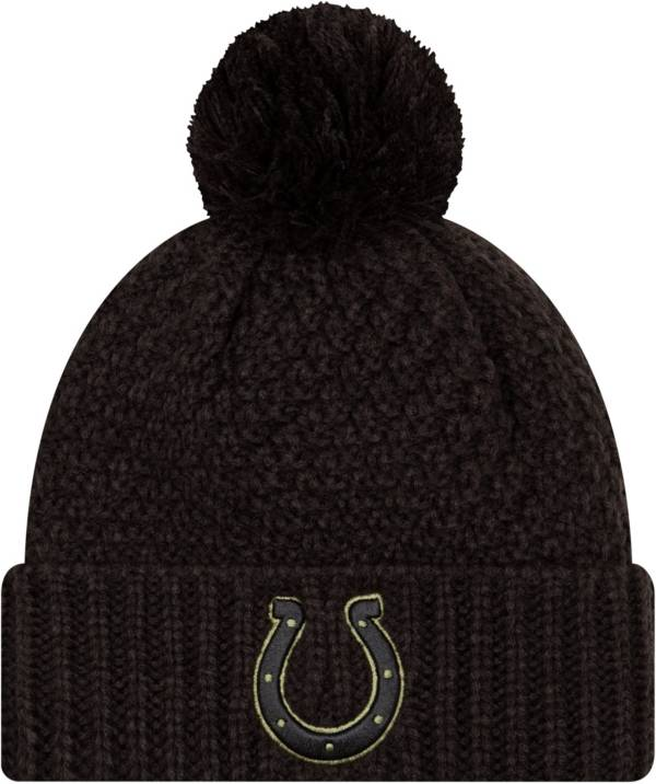 New Era Women's Salute to Service Indianapolis Colts Black Pom Knit Hat product image