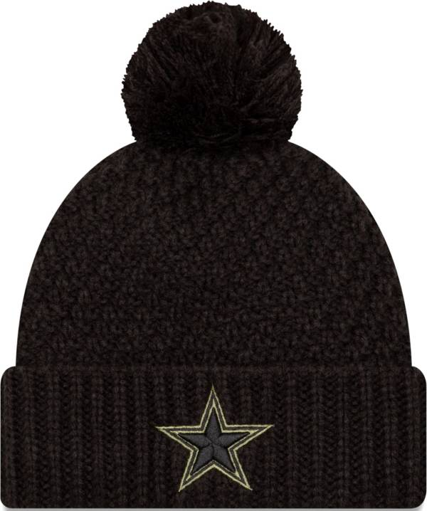 New Era Women's Salute to Service Dallas Cowboys Black Pom Knit Hat product image