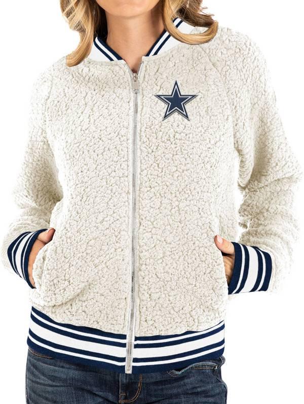 New Era Women's Dallas Cowboys Sherpa White Full-Zip Jacket product image
