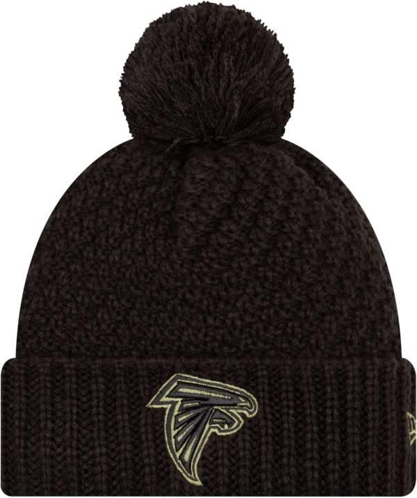 New Era Women's Salute to Service Atlanta Falcons Black Pom Knit Hat product image