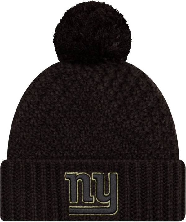 New Era Women's Salute to Service New York Giants Black Pom Knit Hat product image