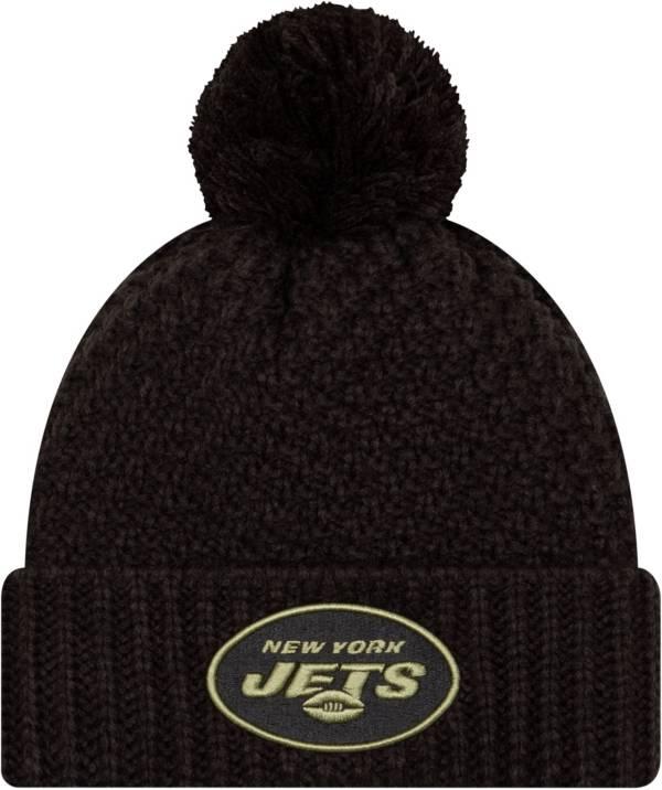 New Era Women's Salute to Service New York Jets Black Pom Knit Hat product image